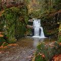 jeden z Rešovských vodopádů