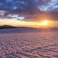 Východ slunce od Jiráskových skal