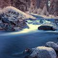 Šumavská krajina v infračervené fotografii