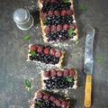 Křehký koláč s borůvkami a malinami