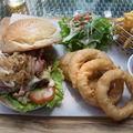 Aussie beef patty burger
