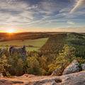 Západ slunce z Křížového vrchu v Adršpachu