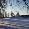 Kostelík Nanebevzetí Panny Marie v zimě...