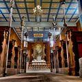 Interiér kostela v rožnovském skanzenu