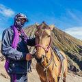 Koně a jezdci na vulkánu Bromo I.