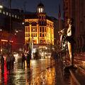 Ulice Bukurešti po daždi