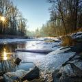 zimní řeka Ostravice