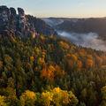Podzimní jitro na Bastei