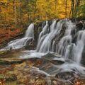 podzim na Poniklém vodopádu