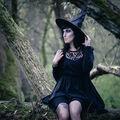Halloweenská čarodějka