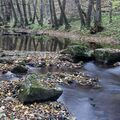 potok Jablonka pod Čachtickým hradom