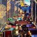 Vánoční atmosféra v podvečerních Drážďanech