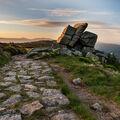 Harrachovy kameny v ranním slunci