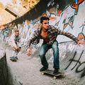Skateboarding na Olympijský bobovce v Sarajevu