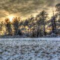 chladný západ slnka