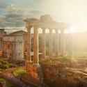 Ranní Forum Romanum v Římě