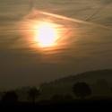 Svítání nad Českým Lesem