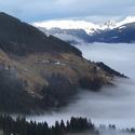 zima v Alpách