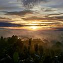 Východ slunce v Indonésii