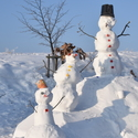 3 sněhuláci