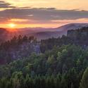 Západ Slunce z Křížového vrchu