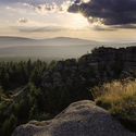 Pohled od vrcholu jizery