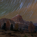 Startrails - hvězdy nad Tofana di Rozes