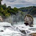 Rýnské vodopády za dne