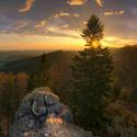 Východ slunce na Čertových kamenech