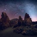 Noc v horské poušti