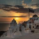Večerní Oia - Santorini