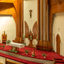 Interiér Kostela svatého Ducha - Hévíz