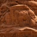 Nádherné pískovcové masivy v poušti Wadi Rum v Jordánsku
