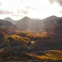 Zasněný pohled do hor