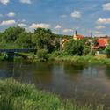 Řeka a obec Dyje