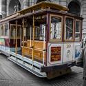 Pěkně barevný kousek historie - Cable Car v San Franciscu