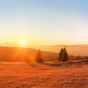 Západ slunce na Zhůří