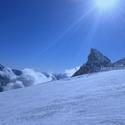 Západ slunce v Alpách