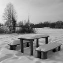 Posezení v zimě