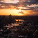 Západ slunce nad Temží