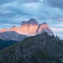 večerní Dolomity