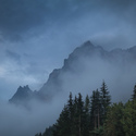 Silhouettes of Dolomites