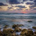 západ slunce v Tel Aviv