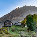 Horská chata v Alpách