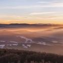 Svítání na Hvozdu v Lužických horách