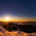Západ slunce na Velkým Ostrým