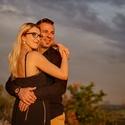 Snoubenci před západem slunce na Zebíně