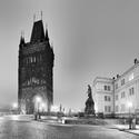 večerní Křižovnické náměstí