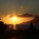 Západ slunce na pobřeží
