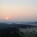 Východ slunce v Českém Švýcarsku.